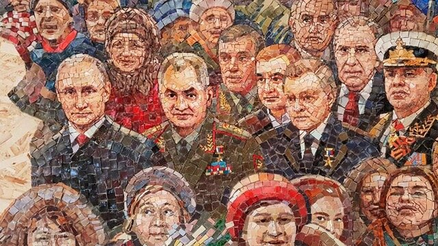 Russian President Vladimir Putin and former Premier of the Soviet Union Joseph Stalin are honored on mosaics originally meant to feature on the church's walls. Creative Commons photo.
